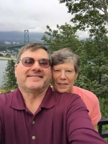 Trip Selfie of Alison and I in Stanley Park