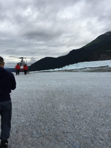 Scott and Alison on Mendenhall Glacier