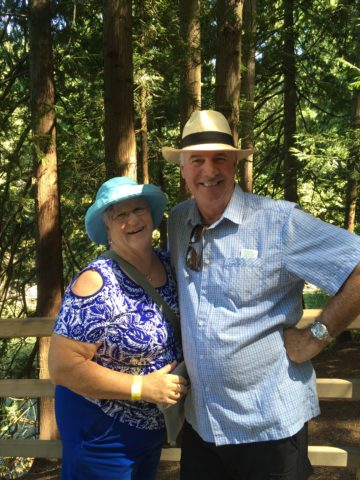 Marion and Barry at Butchart Gardens